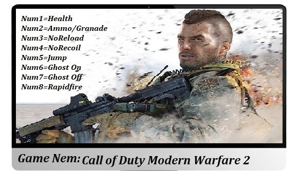 Call of Duty Modern Warfare 2 Чит трейнер [+8] (ver. all)