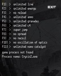Crysis 2 Чит трейнер [+11] (ver.- all)