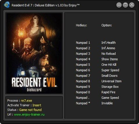 трейнер ResidentEvil7DeluxeEdition103