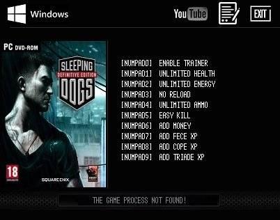 Sleeping Dogs Definitive Edition Чит трейнер [+9]
