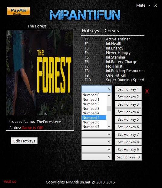 The Forest Трейнер [+10]