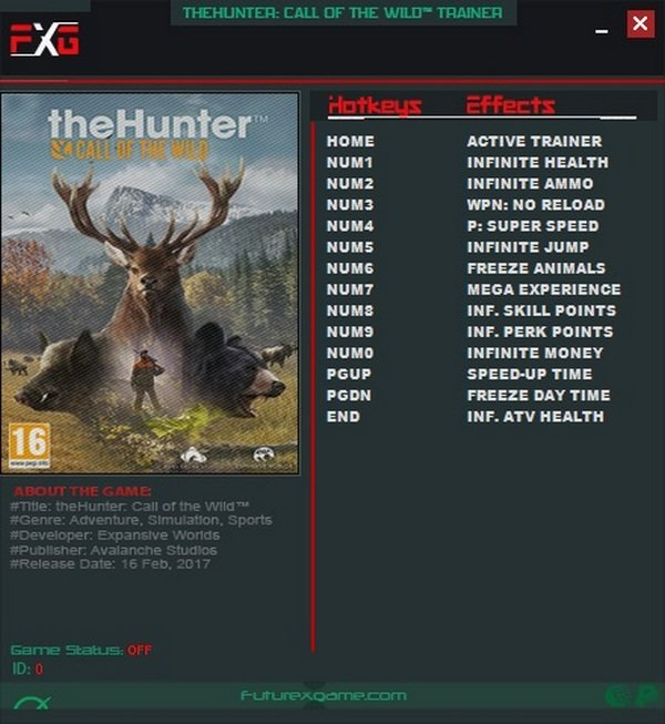 The Hunter - Call of the Wild Чит трейнер [+13] (all)